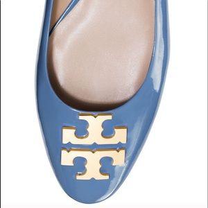Tory burch Blue Raleigh Ballet Flats shoes sz 8